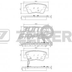 Колодки тормозные задние Solaris/Sonata NF/Tucson 08-/Rio III/I40/Soul/Actyon II (ZEKKERT)-BS1781