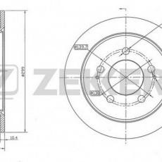 Диск тормозной задний Actyon/Kyron/Rexton (5-link) (не вентилируемый) (ZEKKERT)-BS5148