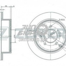 Диск тормозной задний IX35/Santa Fe I/Tucson/Sportage II/Sportage SL (ZEKKERT)-BS5207