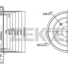 Барабан тормозной Elantra XD (ZEKKERT)-BS5523