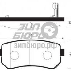 Колодки тормозные задние Sportage II (Слов.)/Ceed I/Cerato II/Rio II/Sportage SL/IX35 (SANGSIN)-SP1187