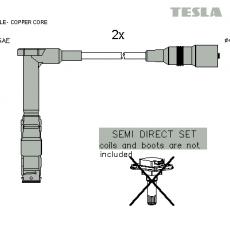 Провод высоковольтный (комплект 2шт) Musso/Korando/Rexton/Actyon/Kyron (E20/23/28/32)(L=470) (TESLA)