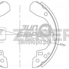 Колодки тормозные задние ix35/Spectra/Shuma I/Sephia II (барабанные) (ZEKKERT)-BK4250