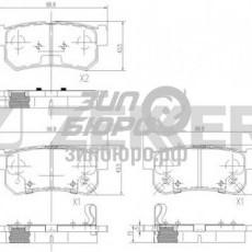 Колодки тормозные задние Actyon/Kyron/Rexton/Musso/Korando 98-/Tager/RoadPartner (ZEKKERT)-BS1496