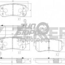 Колодки тормозные задние Sportage II (Слов.)/Ceed I/Cerato II/Rio II/Sportage SL/IX35 (ZEKKERT)-BS1759