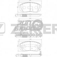 Колодки тормозные передние Sportage II(08-)/Sportage SL/Carens(06-)/IX35/I40/Tucson(06-) (ZEKKERT)-BS1791