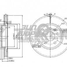 Диск тормозной передний Cruze/Aveo IV (R15) (D276) (ZEKKERT)-BS5050