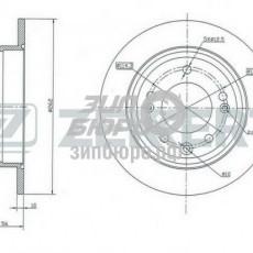 Диск тормозной задний Ceed I/Sportage SL/i30/ix35 (ZEKKERT)-BS5157