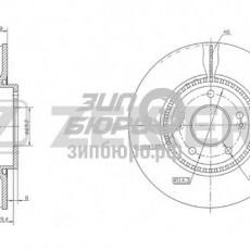 Диск тормозной передний Tucson/Sonata V/IX35/I40/Sportage SL/Carens II/Optima II (ZEKKERT)-BS5274