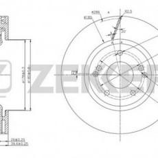 Диск тормозной передний Actyon II (ZEKKERT)-BS5647