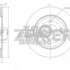 Диск тормозной задний i30/Ceed 12- (ZEKKERT)-BS5800
