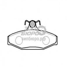 Колодки тормозные задние Musso/Korando -98 (HSB)-HP5003