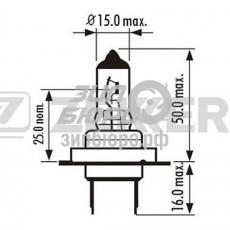 Лампа H7 12V 55W (ZEKKERT)-LP1047