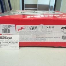 Диск тормозной передний Musso/Korando/Rexton -04/Tager/Road Partner (P/TIME) (комплект) (PATRON)-PBD4168