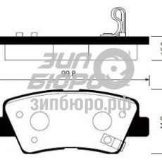Колодки тормозные задние Solaris/Sonata NF/Tucson 08-/Rio III/I40/Soul/Actyon II (SANGSIN)-SP1239