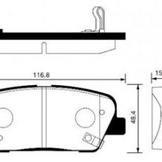 Колодки тормозные задние Santa Fe II 10-/Santa Fe III/Sorento II (HSB)-SP1247
